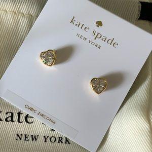 ♠️ KATE SPADE NEW YORK CZ HEART EARRINGS ♠️